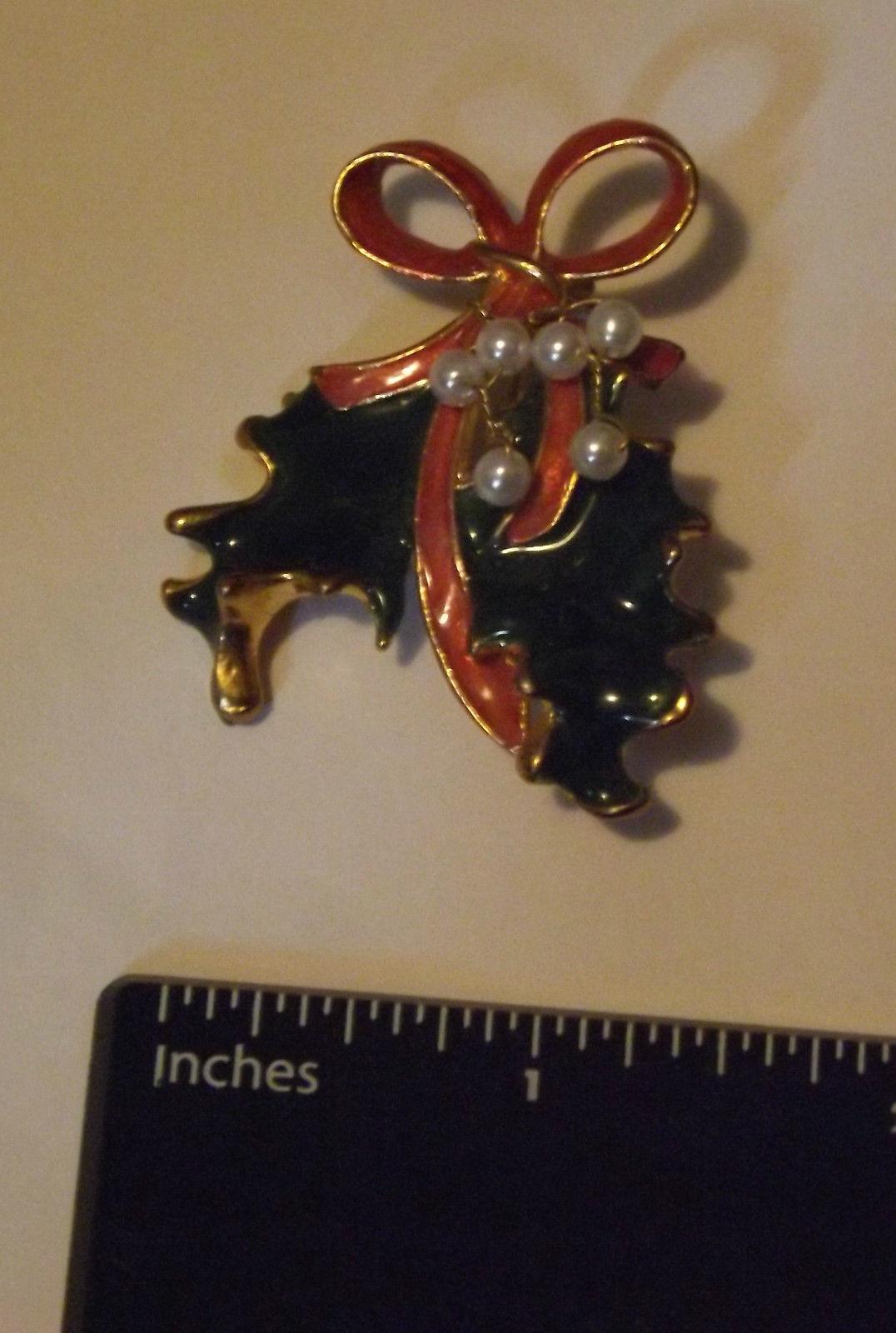 Christmas Holly Pin