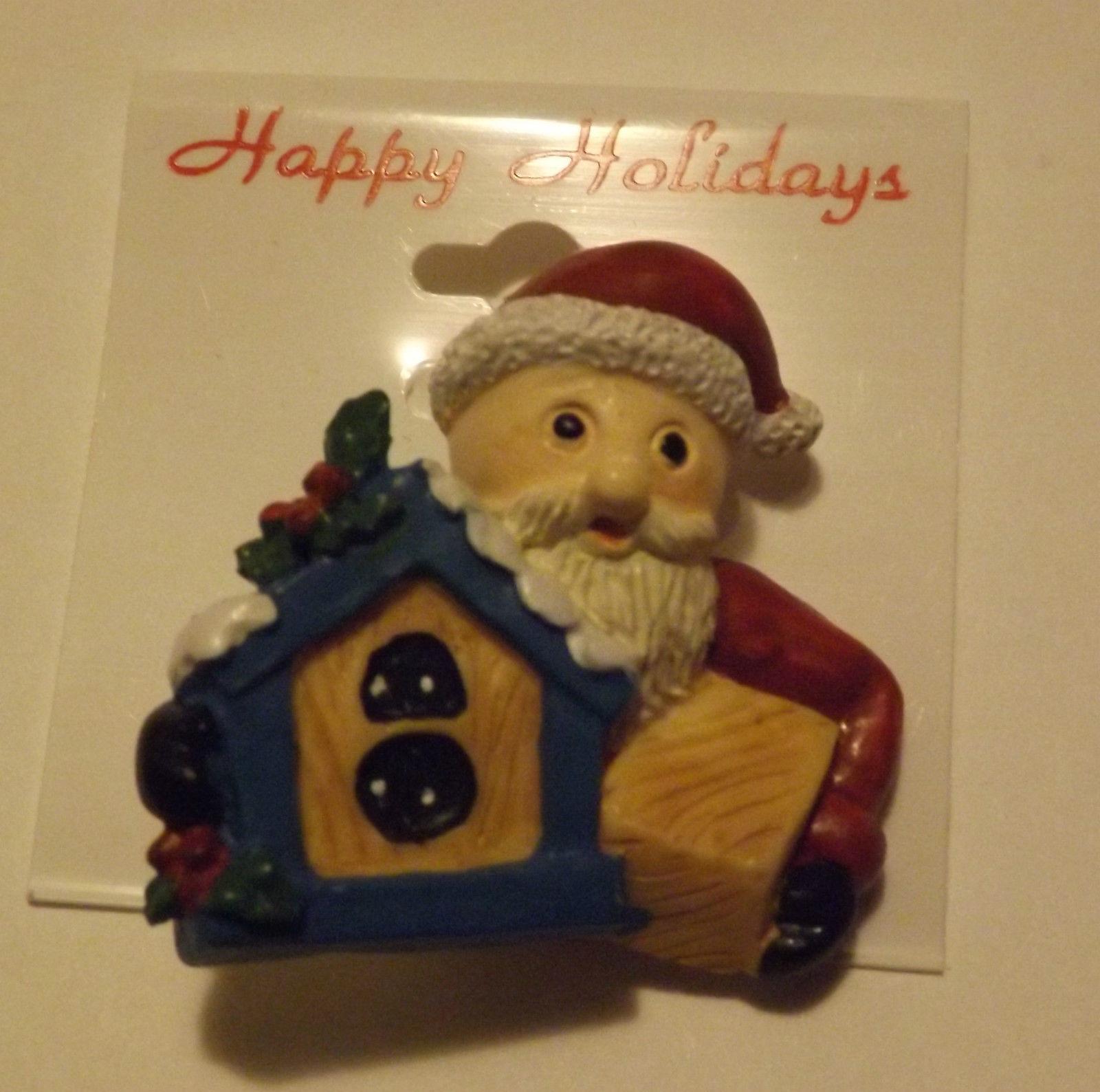 Christmas Pin Santa with gifts