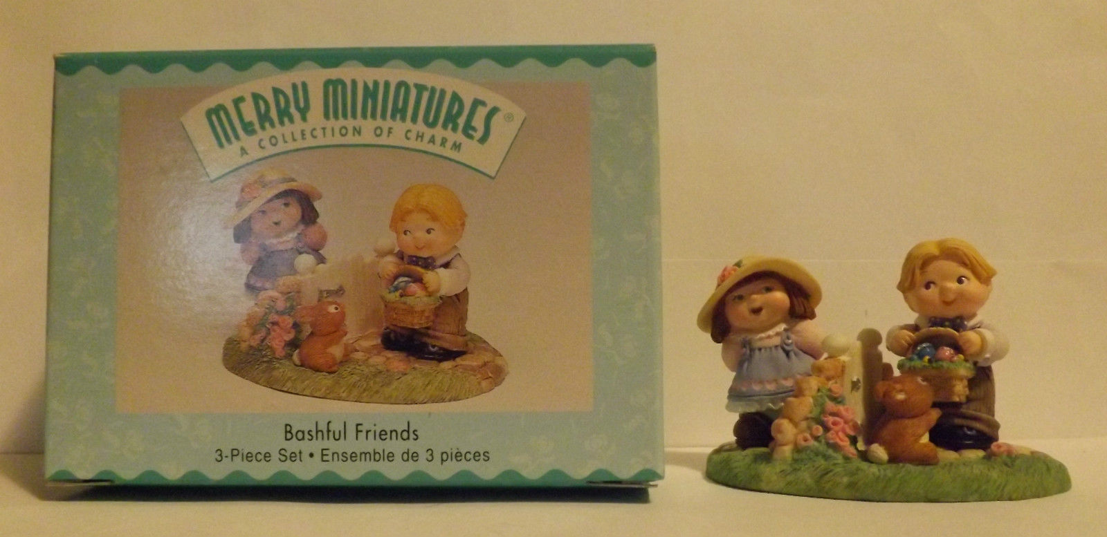 Hallmark Merry Miniatures Bashful Friends 3-Piece Set 1999