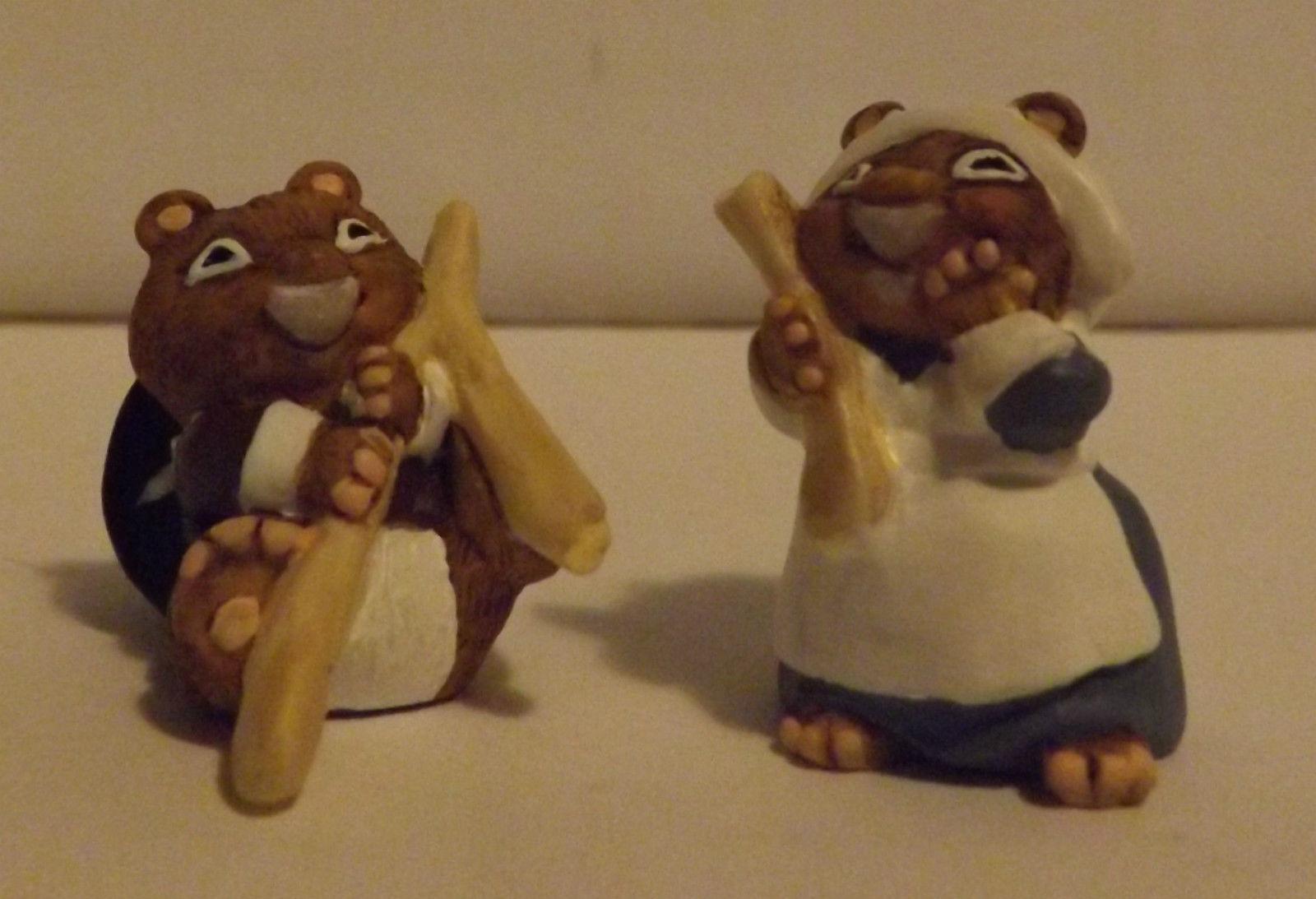 Hallmark Merry Miniatures Making A Wish 2-Piece Set 1997