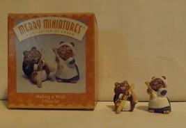 Hallmark Merry Miniatures Making A Wish 2-Piece Set 1997 image 2