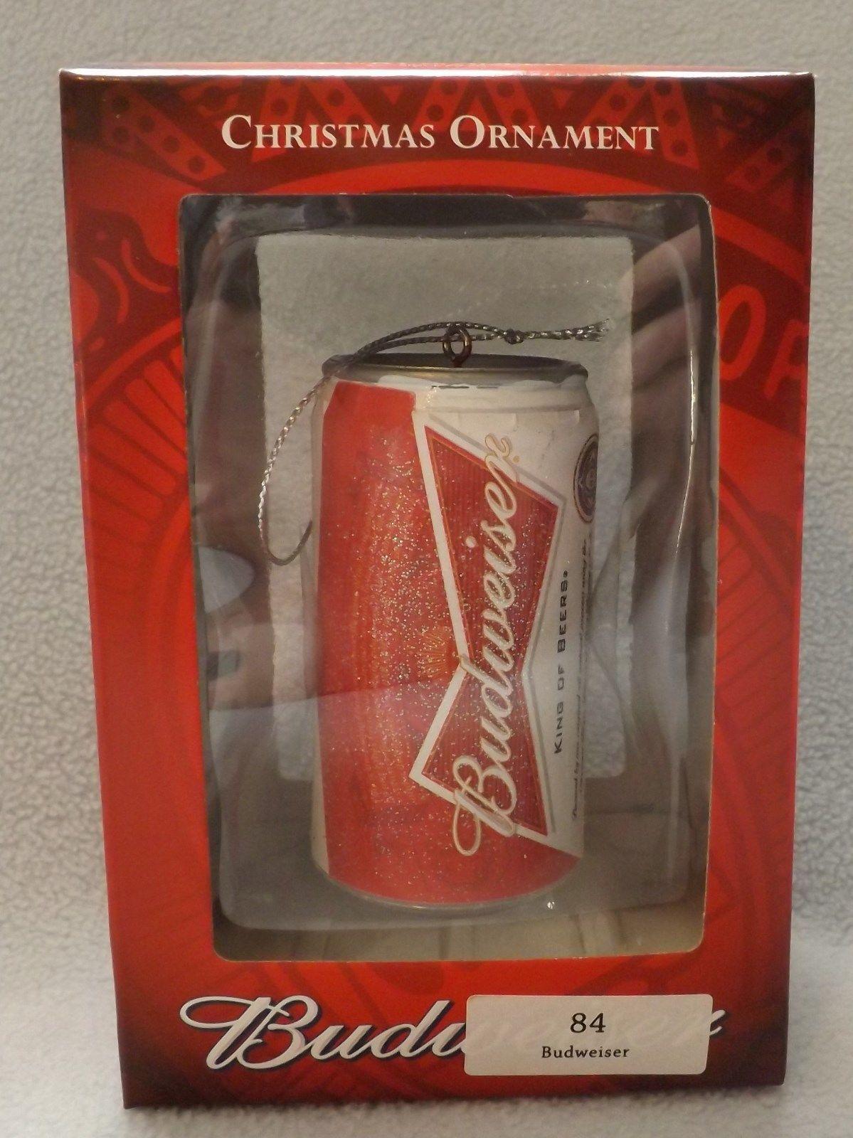 """3"""" Budweiser Beer Can Ornament by Kurt S Adler 2013"""