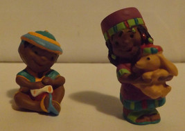 Hallmark Merry Miniatures Penda Kids 2-Piece Set 1996 image 1