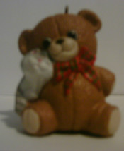 1988 Hallmark Handcrafted Ornament Purrfect Snuggle image 1