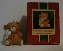 1988 Hallmark Handcrafted Ornament Purrfect Snuggle image 4