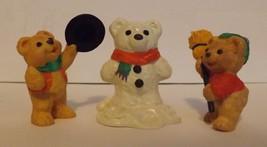 Hallmark Merry Miniatures Snowbear Season 3-Piece Set 1997 - $8.99