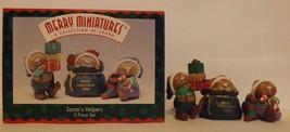 Hallmark Merry Miniatures Santa's Helpers 3-Piece Set Holidays 1996 image 2