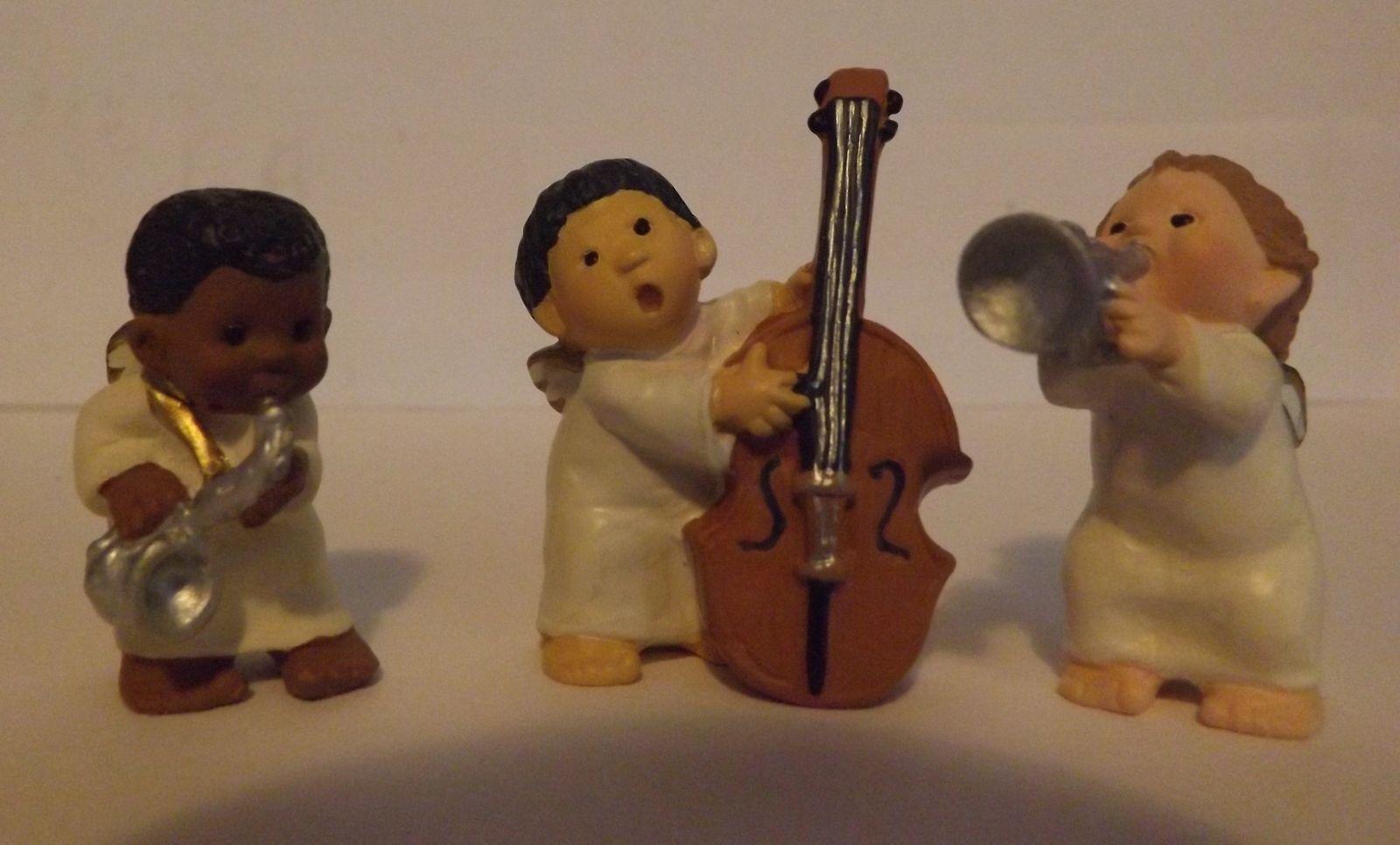 Hallmark Merry Miniatures Holiday Harmony 3-Piece Set Holidays 1997