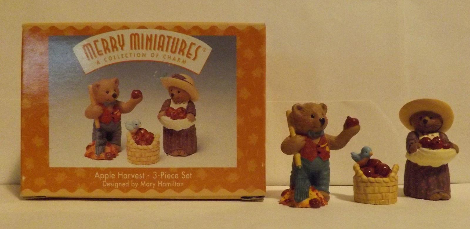 Hallmark Merry Miniatures Apple Harvest 3-Piece Set 1997