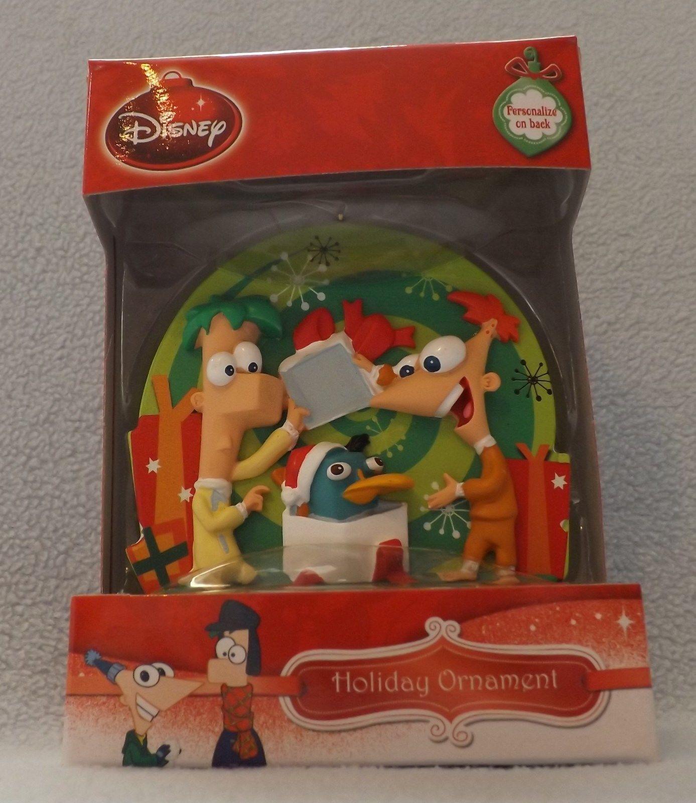 """Disney Phineas & Ferb 3"""" Bas-Relief Ornament"""