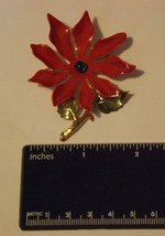 Poinsettia Pin/Brooch Christmas image 1