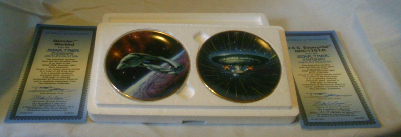 Star Trek Starships Mini Plates Set of 2 The Hamilton Collection