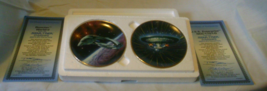 Star Trek Starships Mini Plates Set of 2 The Hamilton Collection image 1