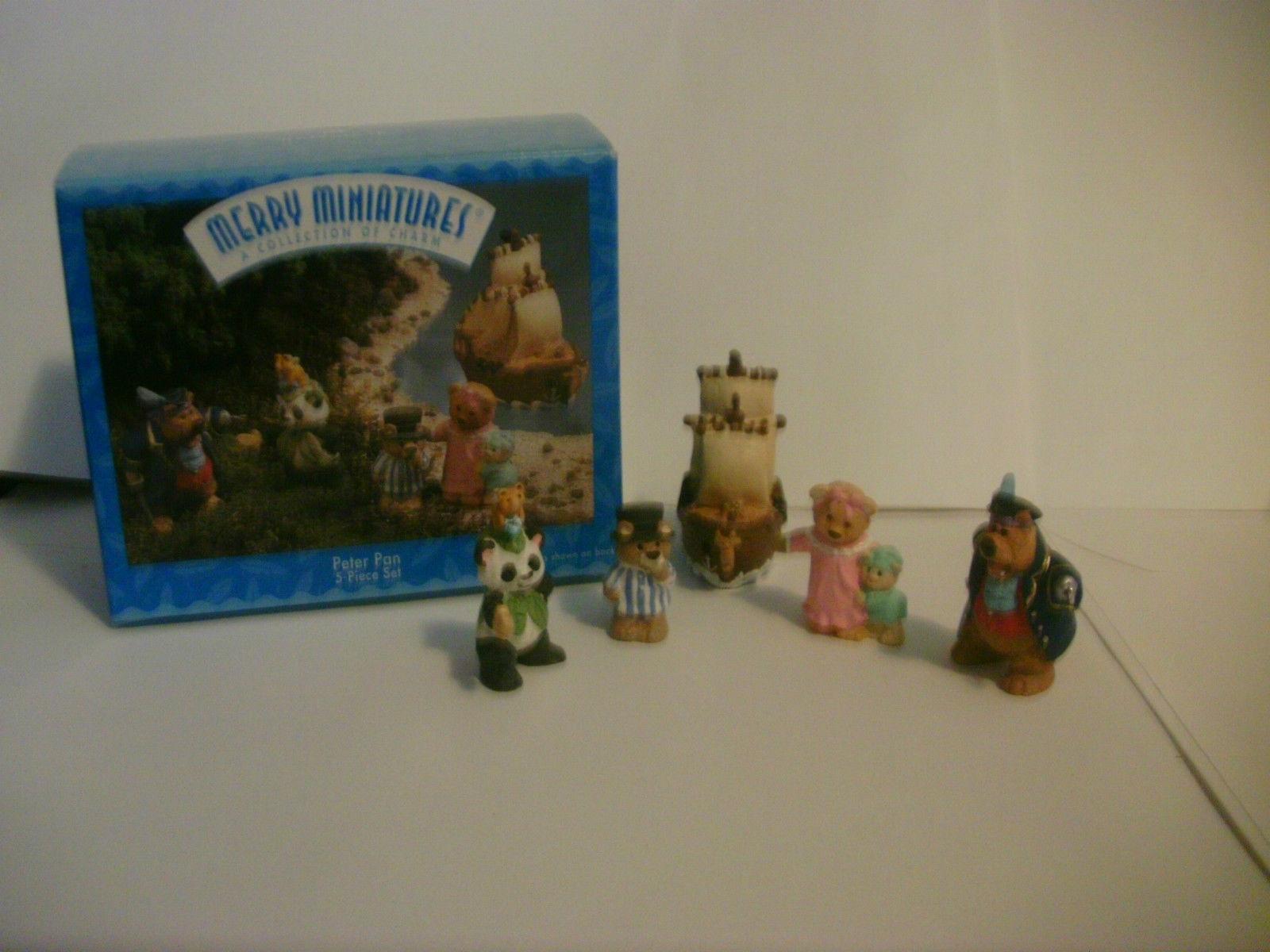 Hallmark Merry Miniatures Peter Pan 5 Piece Set 1997