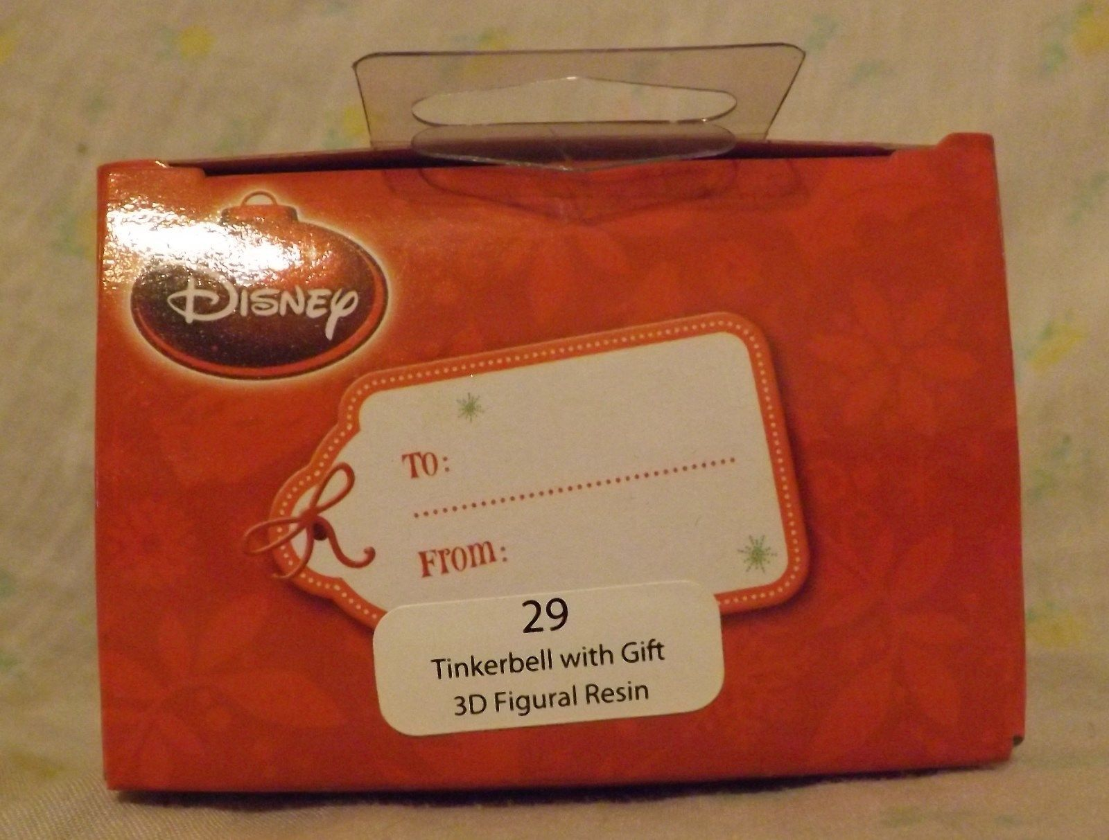 Disney Tinkerbell with Gift 3D Resin Figural Ornament 2013 image 2