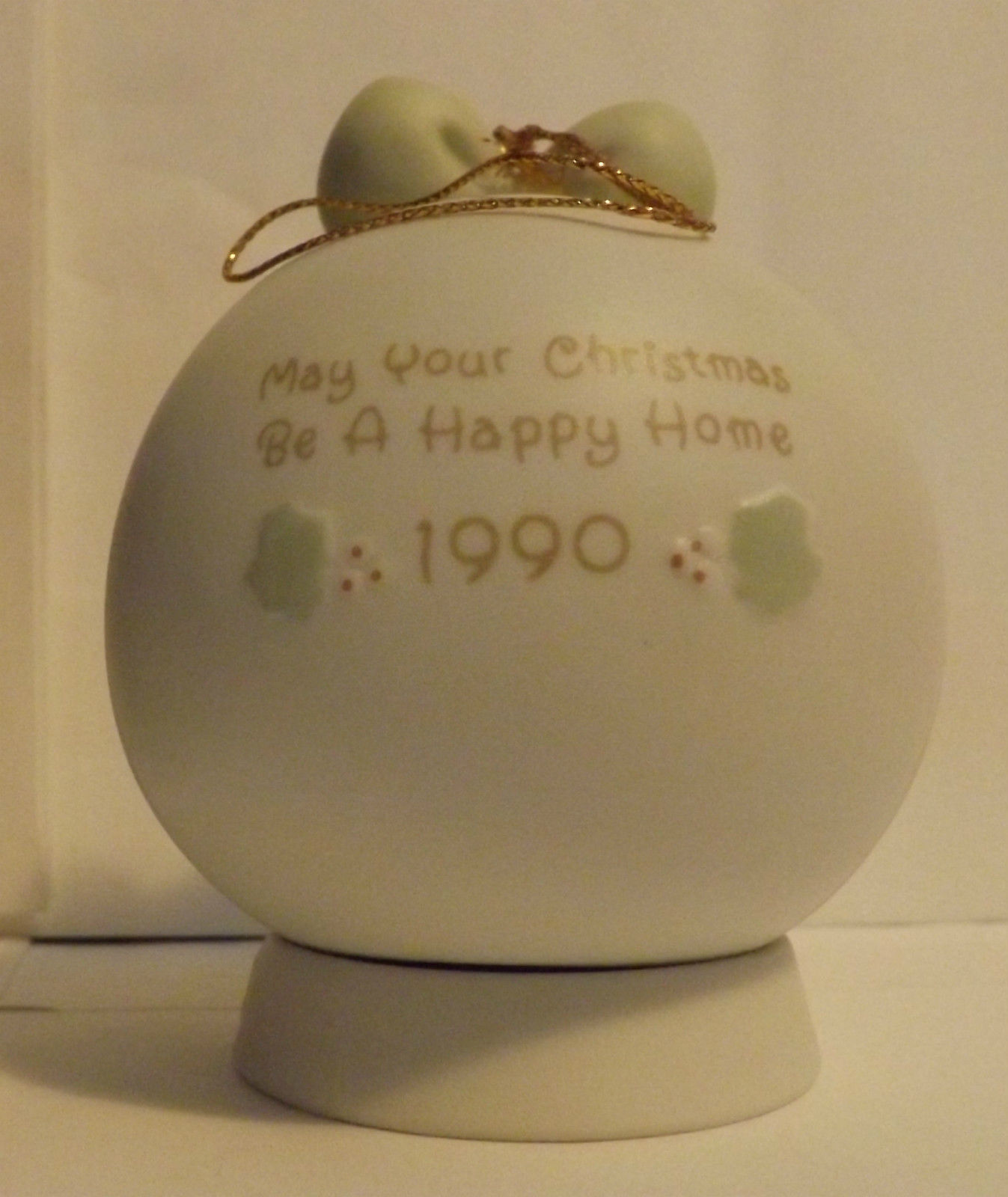 Precious Moments May Your Christmas Be A Happy Home Ornament 1990