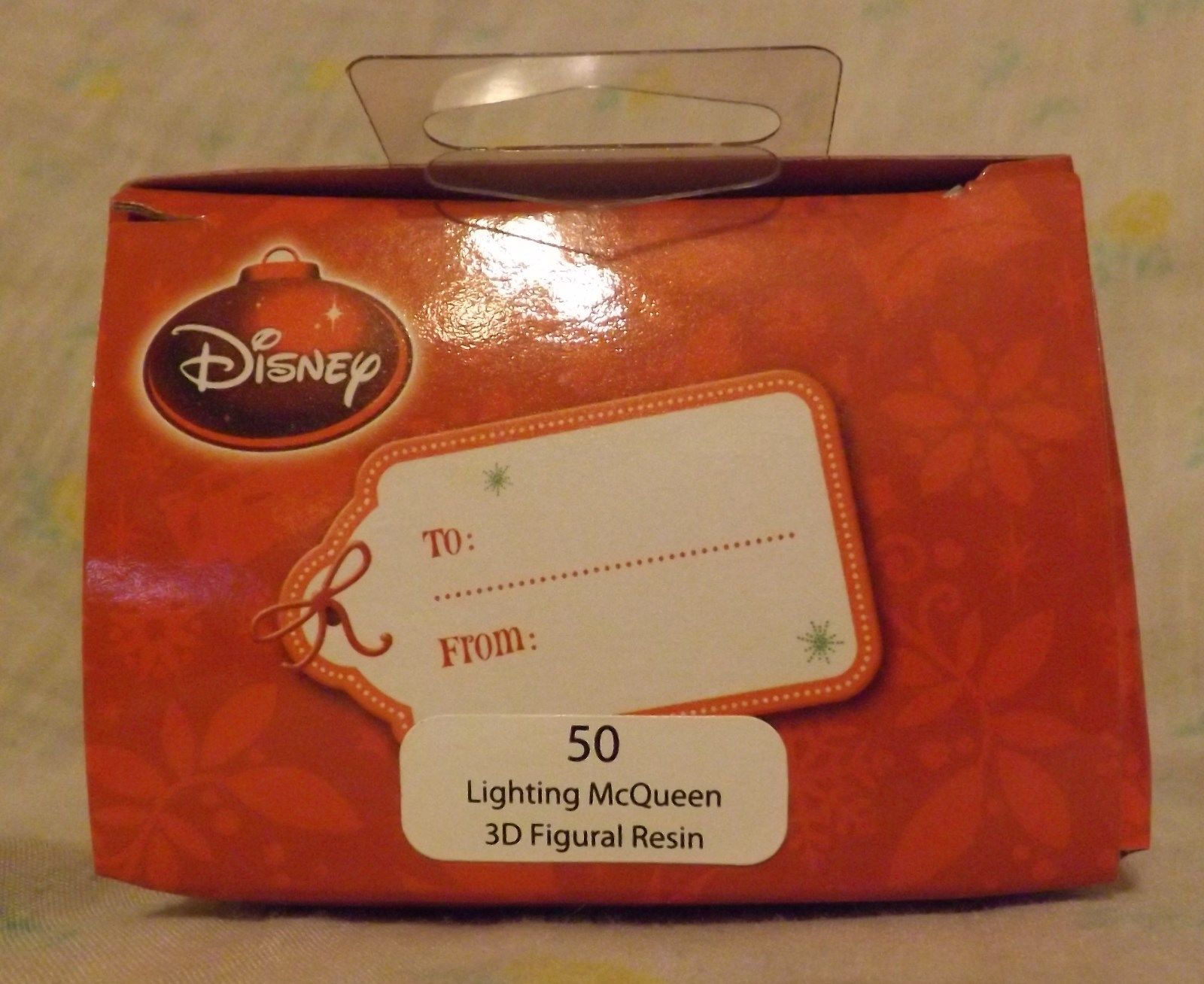 Disney Lightning McQueen 3D Figural Resin Ornament 2013 image 2