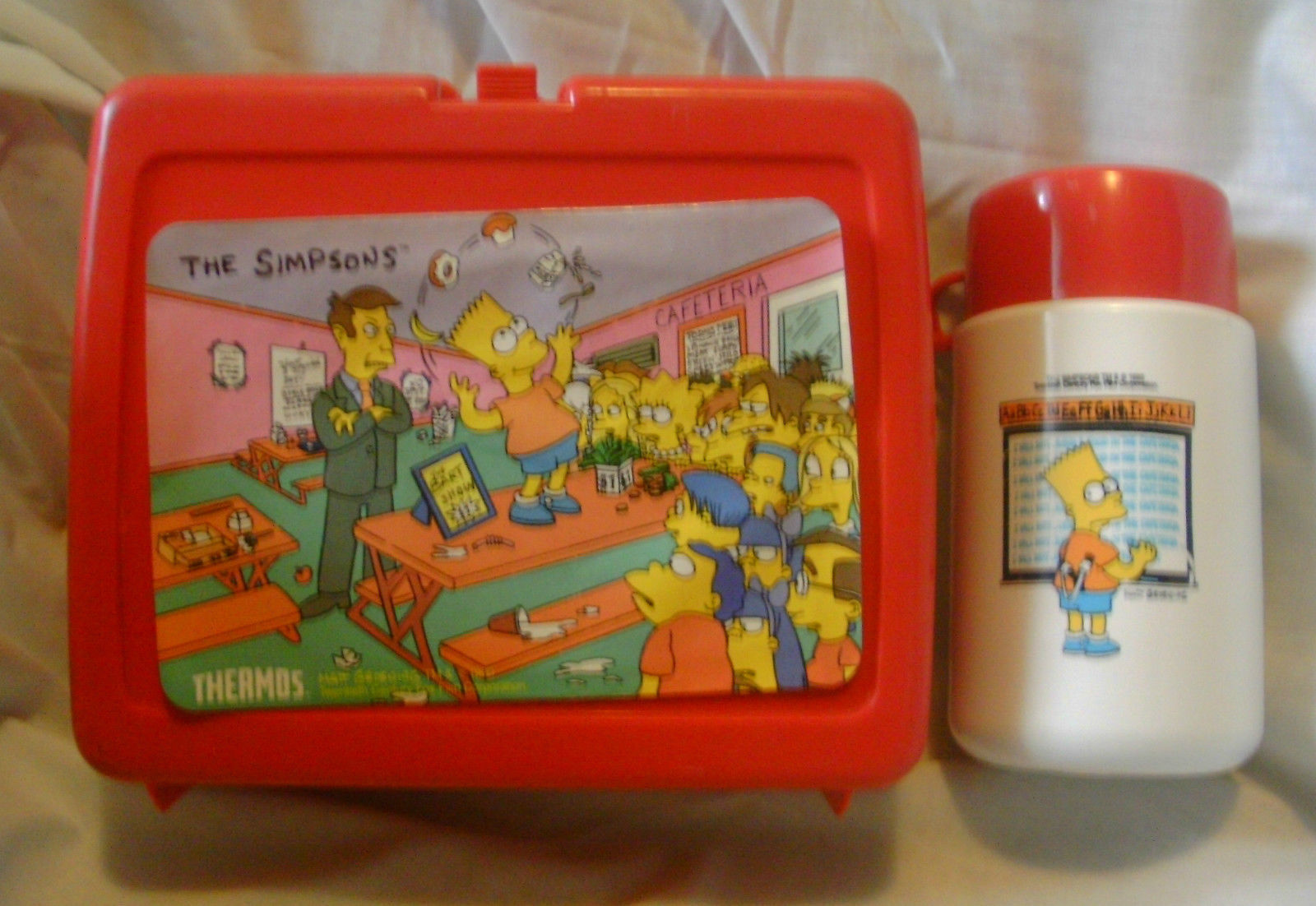 The Simpsons 1990 Lunch Box with Thermos by Thermos Co