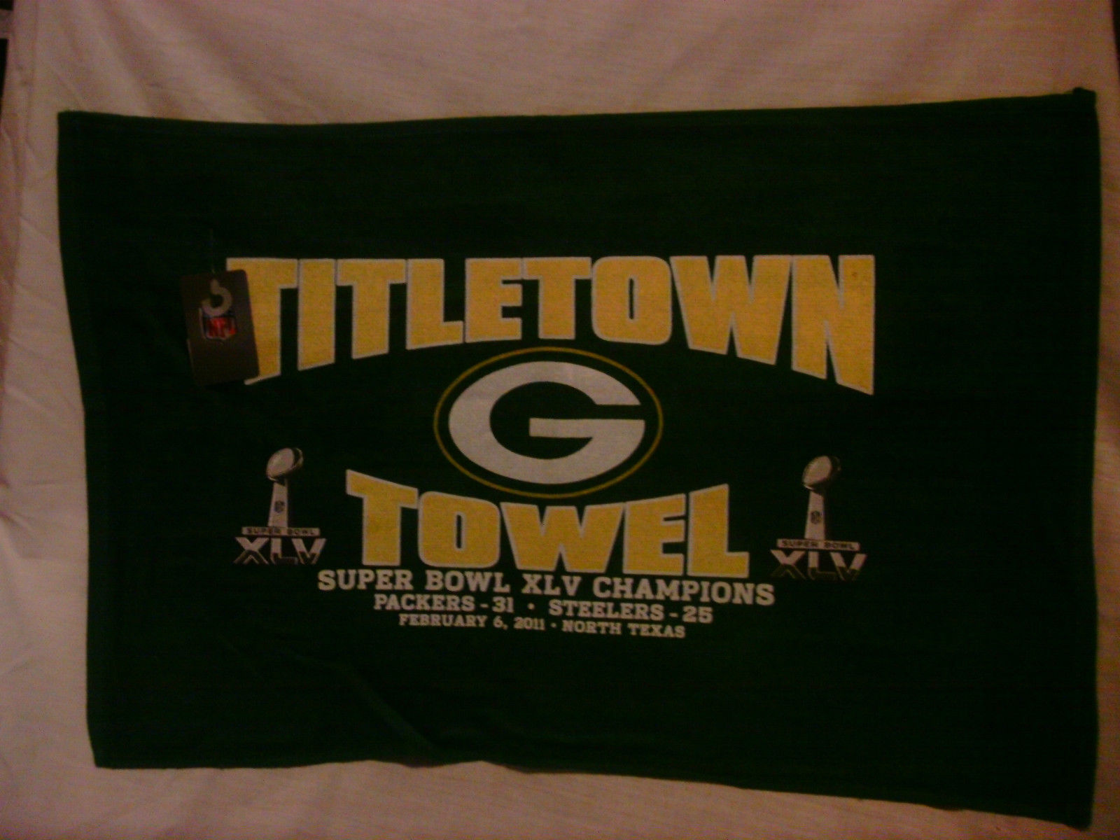 Green Bay Packers Title Town Towel Super Bowl XLV Super Bowl Champions