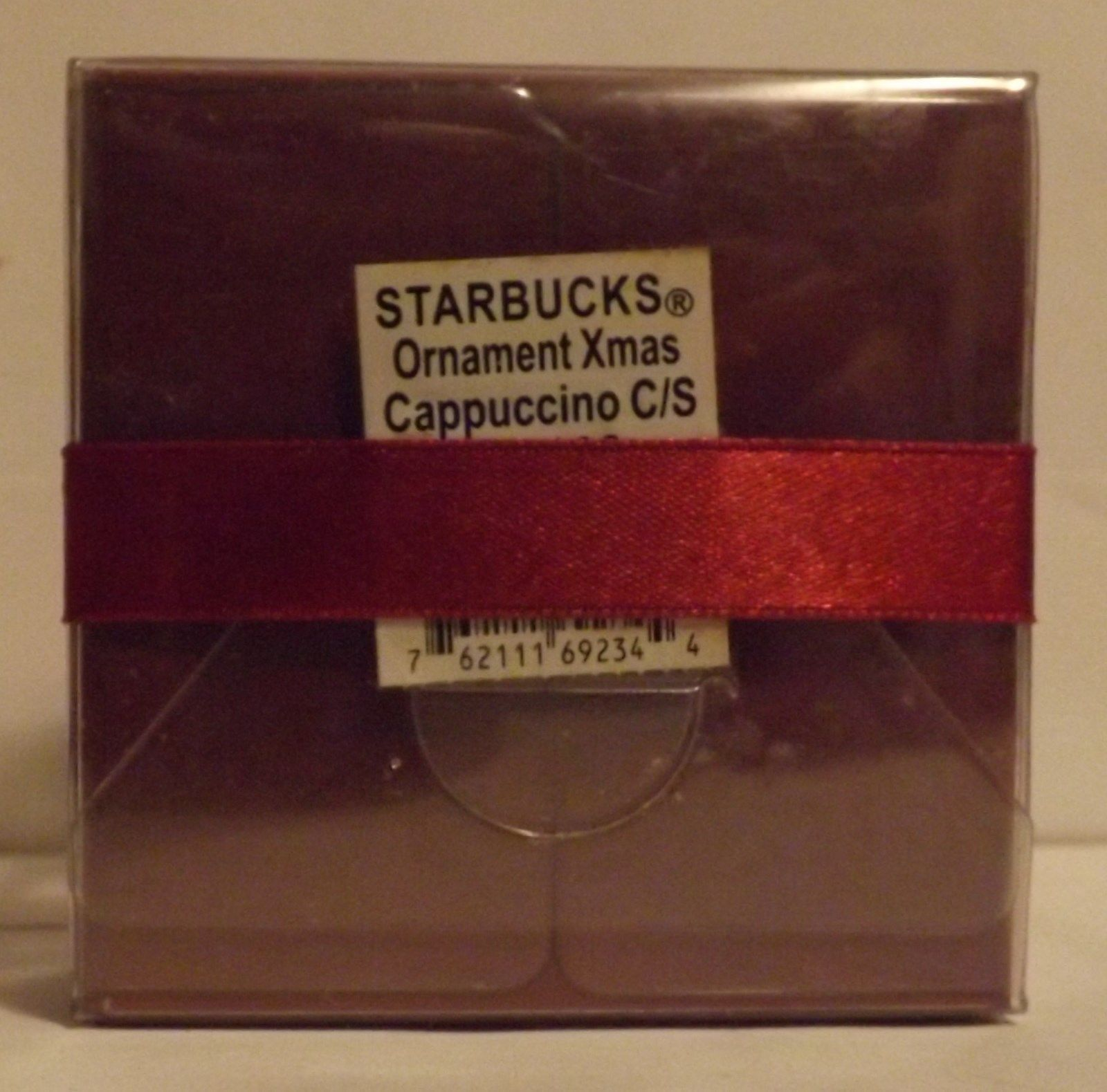 Starbucks Collectible Mini Ornament Cappuccino Cup/Saucer image 2