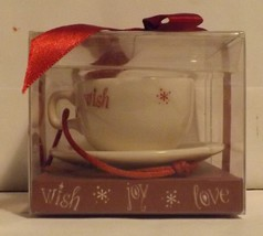Starbucks Collectible Mini Ornament Cappuccino Cup/Saucer image 1