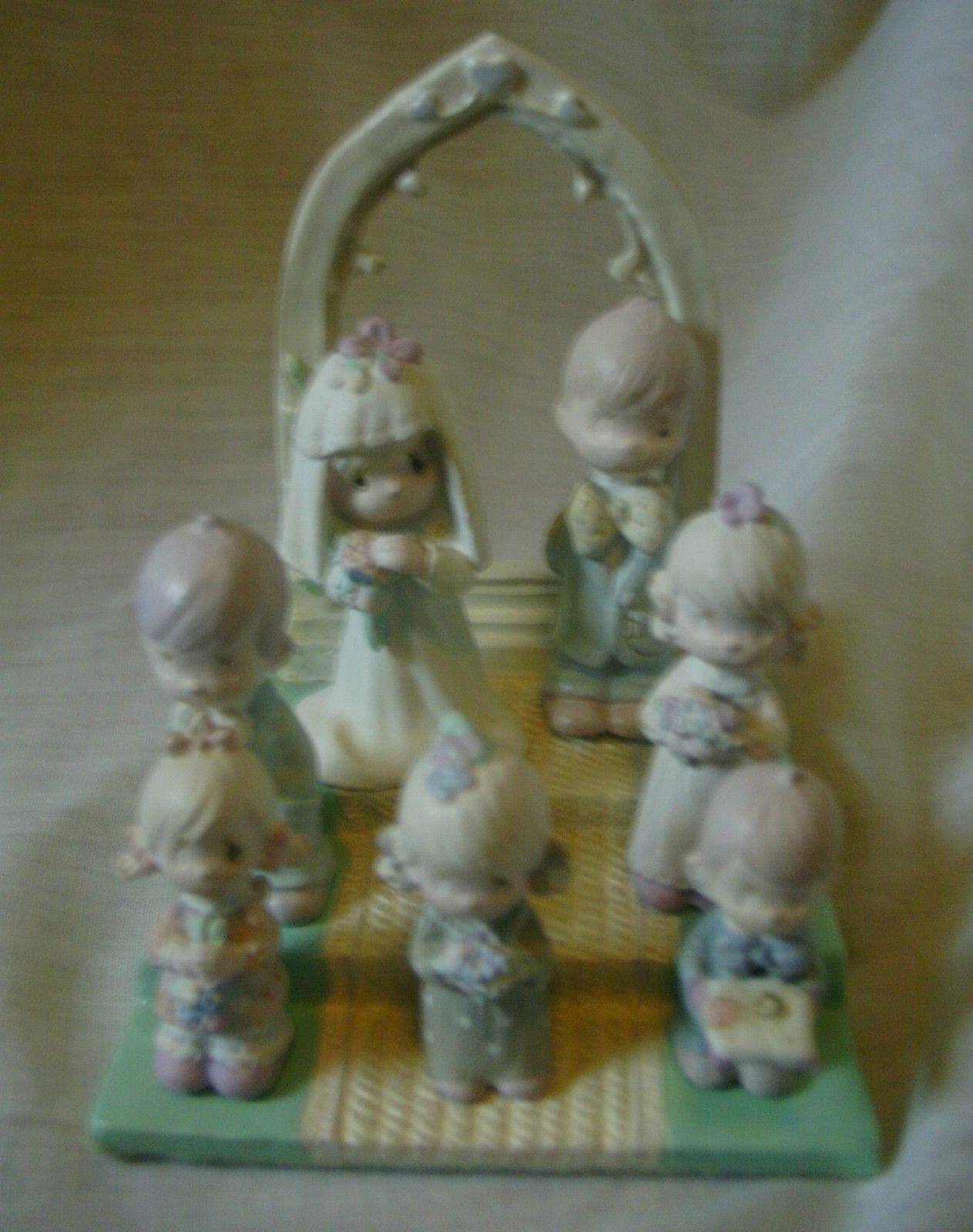 Precious Moments Miniature Pewter Bridal Set 1989 image 3