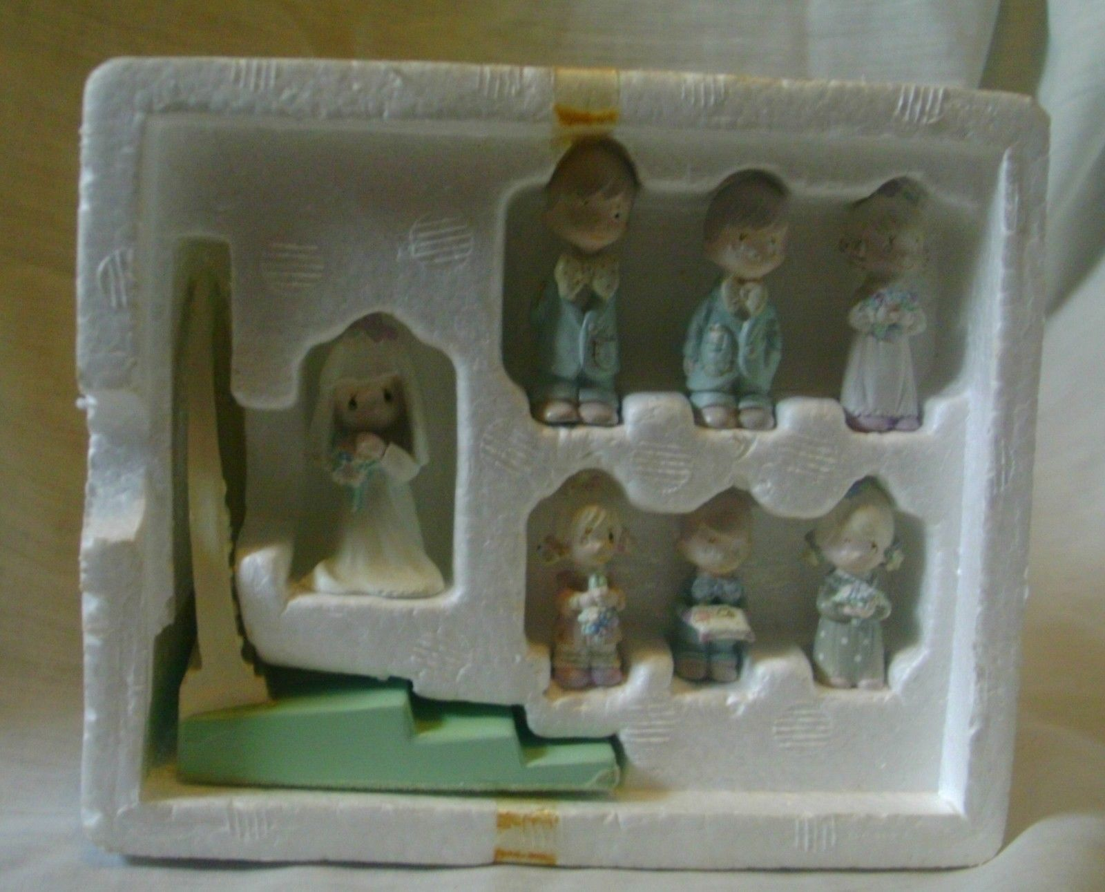Precious Moments Miniature Pewter Bridal Set 1989 image 4