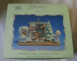 Precious Moments Miniature Pewter Family Christmas Scene 1989 image 2
