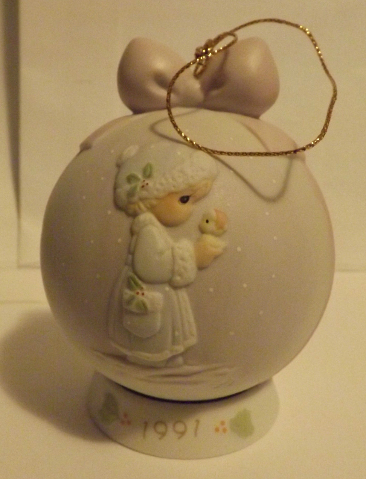 Precious Moments May Your Christmas Be Merry Special 1991 Issue Ornament image 1