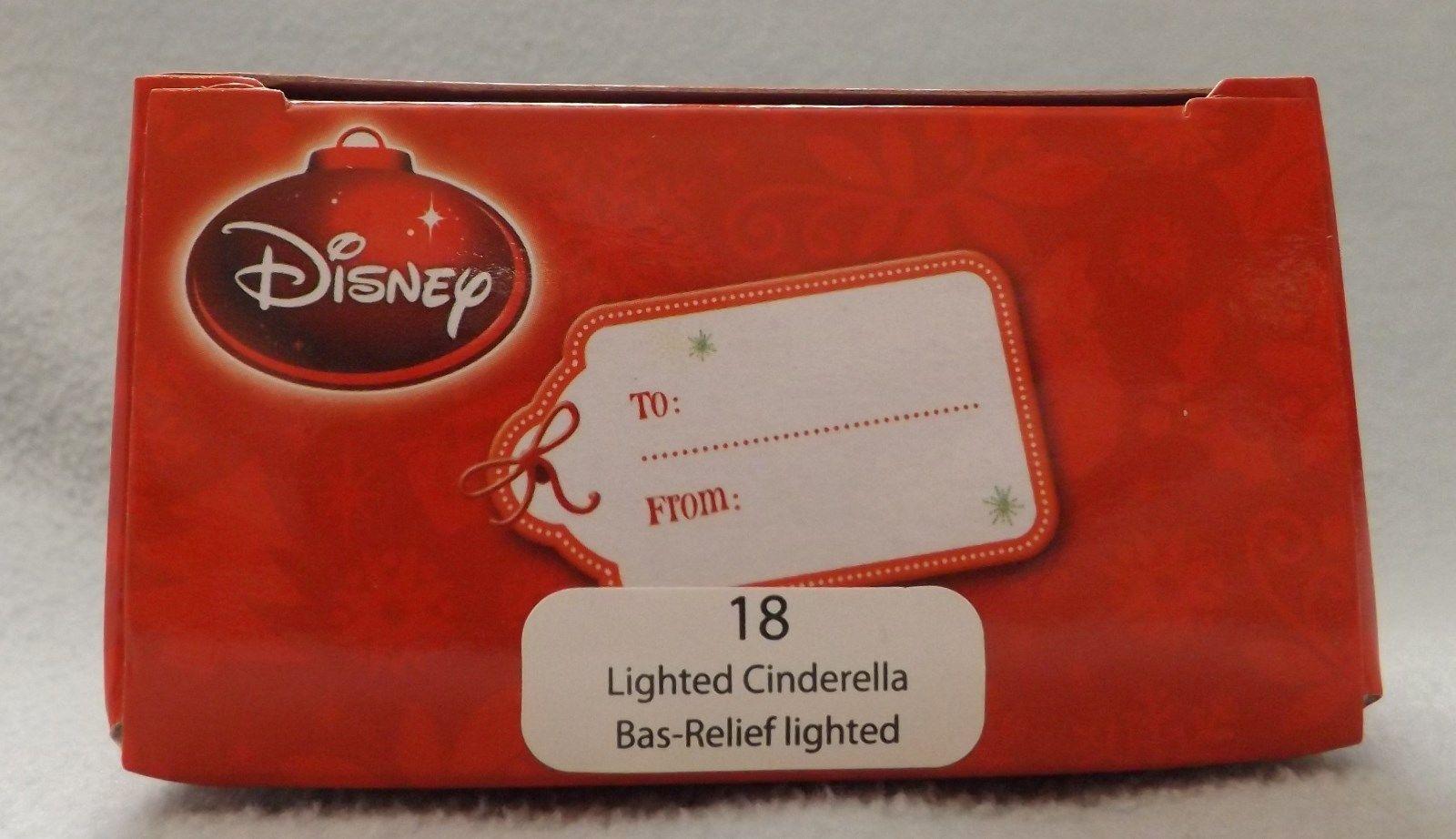 "Disney 3"" Lighted Cinderella Bas-Relief Ornament image 2"