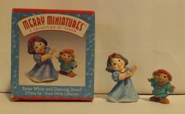 Hallmark Merry Miniatures Snow White and Dancing Dwarf 2-Piece Set 1997 image 1