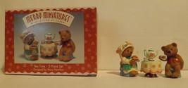 Hallmark Merry Miniatures Tea Time 3-Piece Set 1997 image 2