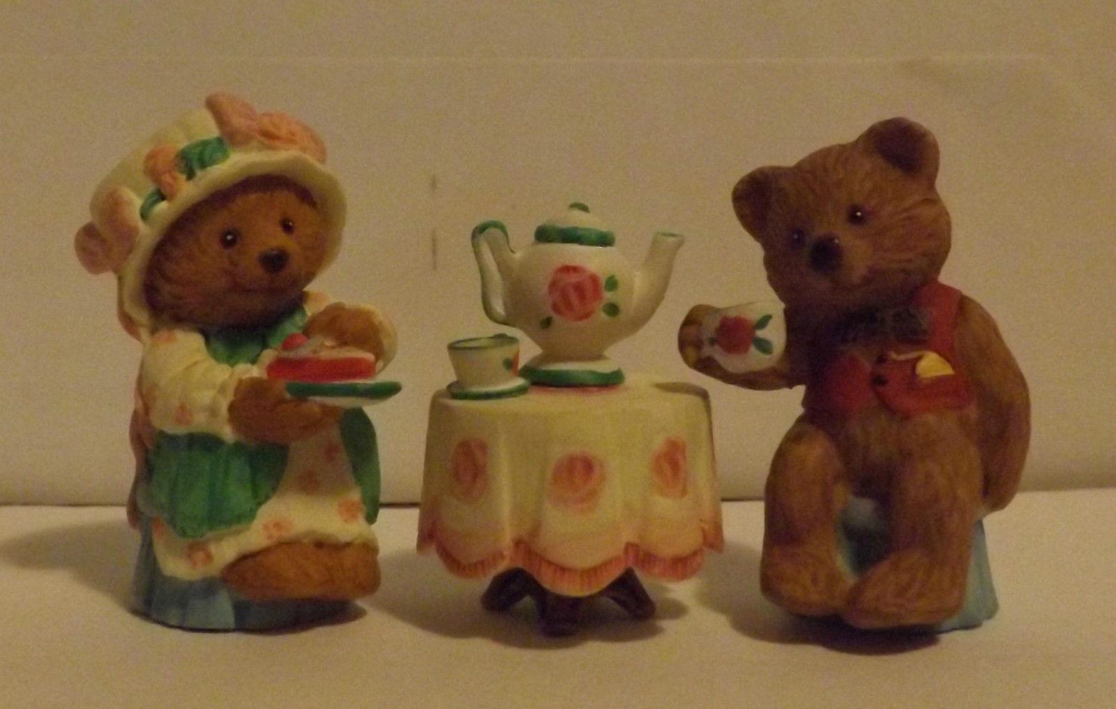 Hallmark Merry Miniatures Tea Time 3-Piece Set 1997