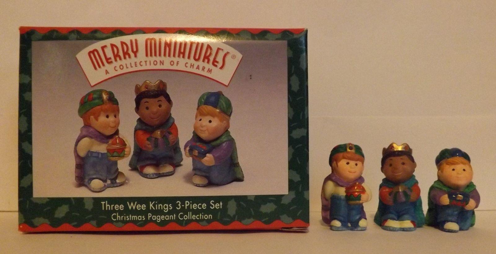Hallmark Merry Miniatures Three Wee Kings 3-Piece Set Holidays 1997