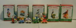 Disney Hallmark Merry Miniatures Mickey Express Train 1998 Complete Set of 5 image 2