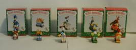 Disney Hallmark Merry Miniatures Mickey Express Train 1998 Complete Set of 5 image 1