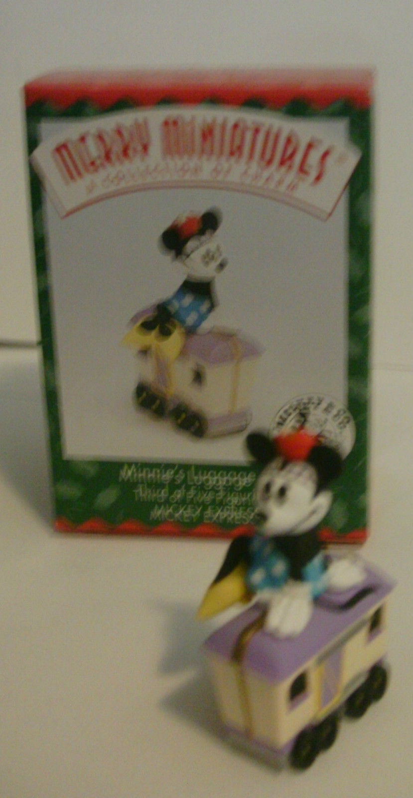 Disney Hallmark Merry Miniatures Mickey Express Train 1998 Complete Set of 5 image 5