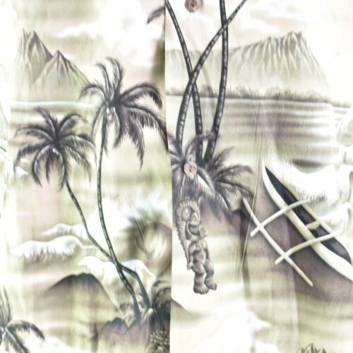 Royal Creations Palms Diamond Head Sunset Outrigger Beach Medium Hawaiian Shirt