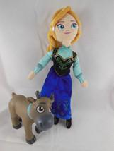 "Frozen ANNA Plush Cloth with Baby Sven Rare HTF Disney Store 10"" - $8.61"