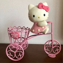 Hello Kitty Pottery Planter Holder Bicycle Entrance Illustration Figures... - €394,77 EUR