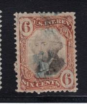 US Revenue 6 cent Stamp Scott #R138 Orange & Black  Used SOund $110 cv - $16.06