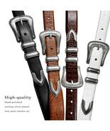 """Brenton Designer Dress Belt with Western Silver Plated Buckle Set 1-1/8""""... - $34.95"""