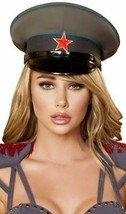 Military Hat General Captain Officer Army World War II Costume Green Rom... - $33.85