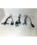 3 IBM PS2 250mm RCM KVM Switch Conversion Cable 26K4178 32P1645 POD SIP ... - $24.70