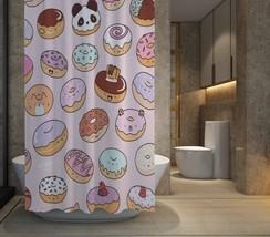 """HOT SALE Kawaii doughnuts Shower Curtain Size 60"""" x 72""""    - $48.10"""