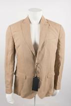Massimo Dutti Men's Jacket Blazer US 42 EU 52 Tan Linen Slim Fit 2012/22... - $222.75