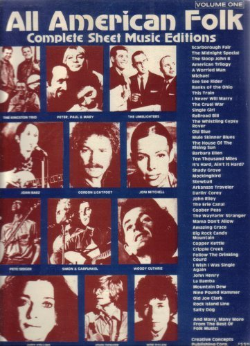 All American Folk: Complete Sheet Music Editions (One) [Paperback] by Various