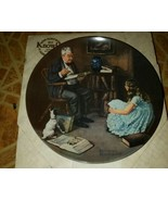 1984 Norman Rockwell The Storyteller Knowles Collectible Plate #17471D w... - $15.83