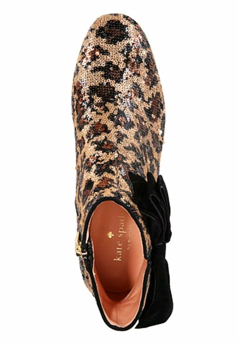 kate spade new york Leopard Print Langley Bow Booties $350 Mult Sz image 4