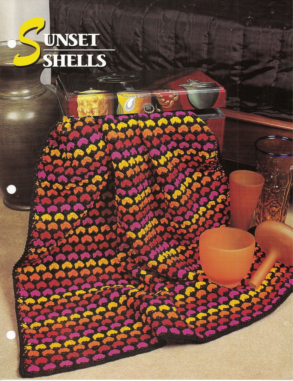Sunset Shells Afghan Crochet Pattern Annies Attic Crochet & Quilt Club